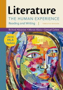 Find Literature: The Human Experience with 2016 MLA Update at Google Books