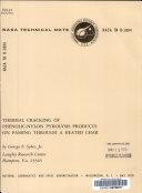 Thermal cracking of phenolic-nylon pyrolysis products on ...
