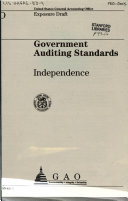 Government Auditing Standards: Independence : Exposure Draft
