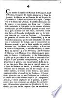 Con motivo de remitir el Mariscal de Campo D. Josef de Veciana, ...