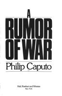an analysis of the sadness in the memoir a rumor of war by philip caputo Philip caputo (born june 10, 1941) is an american author and journalist he is best known for a rumor of war, a best-selling memoir of his experiences during the vietnam war caputo has written 15 books, including two memoirs, five books of general nonfiction, and eight novels philip caputo was.