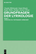 Find Grundfragen der Lyrikologie 1 at Google Books