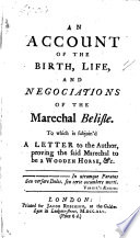An Account of the Birth, Life, and Negociations of the ...