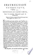 Instruction catholique sur la dévotion au Sacré Coeur, pour le ...