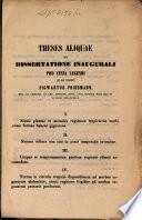 Theses aliquae ex dissertatione inaugurali pro venia legendi