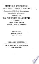Memorie istoriche della città e chiesa di Bergamo: raccolte ...