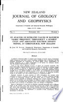 New Zealand Journal of Geology and Geophysics - Nov 1961