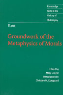 Find Groundwork of the metaphysics of morals at Google Books