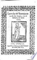 La vida del bienaventurado San Amaro con el martyrio de Santa Lucía