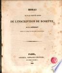 Essai sur le texte grec de l ́Inscription de Rosette