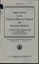Improvements in the control of ribes by chemical and ...