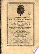 Informe legal por la vindicta publica, y regalia de su Magd: en la ...