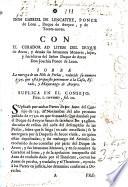 Don Gabriel de Lencastre, Ponce de Leon, Duque de Aveyro, y de ...