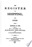 The Register of Shipping for ...