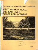 Wishkah River Bridge Replacement, West Wishkah Road, Environmental ...