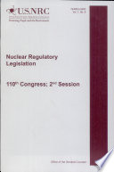 Nuclear Regulatory Legislation