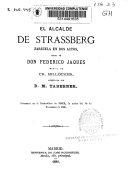 El alcalde de Strassberg: zarzuela en dos actos