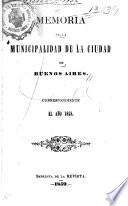 Memoria de la municipalidad de la ciudad de Buenos Aires, ...