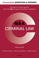 Find Concentrate Questions and Answers Criminal Law at Google Books