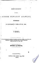 Decisions of the Sudder Dewanny Adawlut, Recorded in ...
