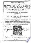 Historiopolitographia:
