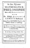 Find Sir Isaac Newton's Mathematick Philosophy More Easily Demonstrated: at Google Books
