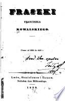 Fraszki: pisane od 1824 do 1828