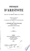 Œuvres (tr. par J. Barthélemy Saint-Hilaire). [32 vols. The ...