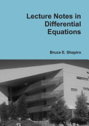 Find Lecture Notes in Differential Equations at Google Books