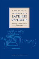Find Inleiding Tot de Latijnse Syntaxis at Google Books